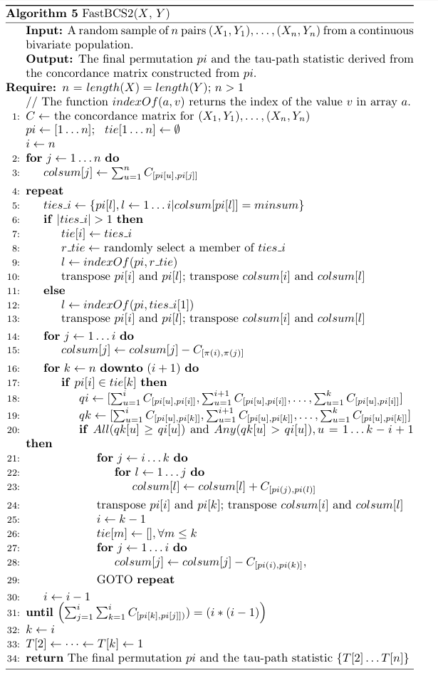 fastBCS2 in mathematical notation