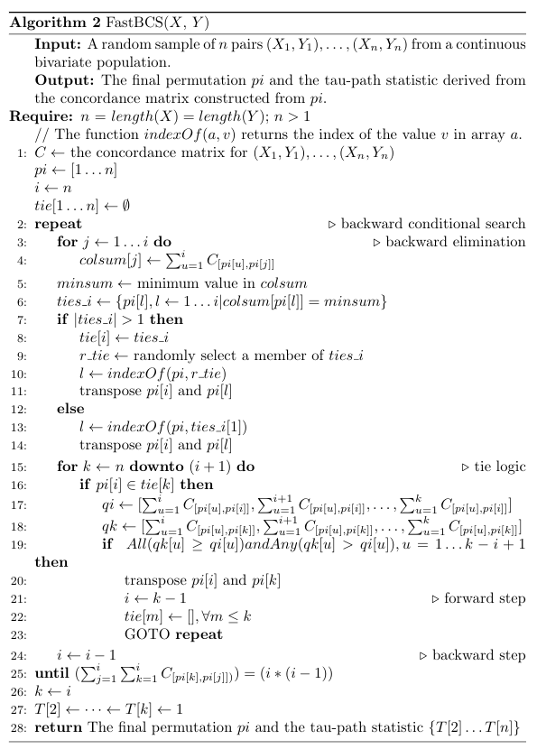 fastBCS in mathematical notation